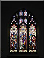 TM3068 : The Window of John The Baptist Church, Badingham by Adrian Cable