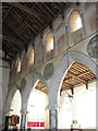 TF4713 : St Mary's church in West Walton - arcading by Evelyn Simak