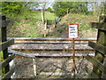 SU9790 : Jordans: Birchland Wood railway foot crossing (1) by Nigel Cox