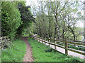 SJ7965 : Bridle path and footpath by Seo Mise