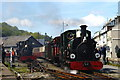 SH5738 : Departure From Porthmadog Harbour Station, Gwynedd by Peter Trimming