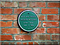 Photo of Alfred Williams green plaque