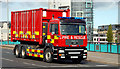 J3474 : Fire appliance, Belfast by Albert Bridge