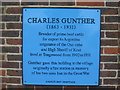 Photo of Charles Gunther blue plaque