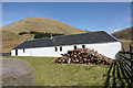 NN2588 : Estate building at Upper Glenfintaig : Week 19