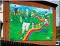 J5252 : Football mural, Killyleagh (1) by Albert Bridge