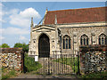 TF8521 : All Saints' church in Weasenham - entrance by Evelyn Simak