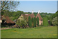 TQ8032 : Oast House at Old Weavers Cottages, Frame Farm, Iden Green Road, Iden Green, Kent by Oast House Archive