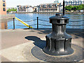 TQ3679 : Redundant capstan, Greenland Dock by Stephen Craven