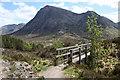 NN2256 : Footbridge on the West Highland Way by Dorothy Carse