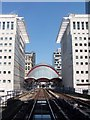 TQ3780 : Canary Wharf Station, Docklands Light Railway by David Martin