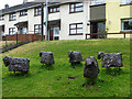 H4472 : Sheep sculptures, Gallows Hill Omagh by Kenneth  Allen