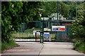 SE2701 : Blackmoor PSD entrance gates by Adam Brookes