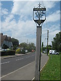 TQ9529 : Appledore Village Sign by David Anstiss