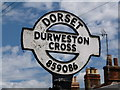 ST8508 : Durweston: detail of finger-post by Chris Downer