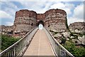 SJ5359 : Modern Bridge, Old Gatehouse at Beeston Castle by Jeff Buck