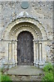TM3896 : Norman Arch Hales St Margaret by Ashley Dace