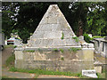TQ2471 : St Mary's church, Wimbledon: Pyramidal tomb by Stephen Craven