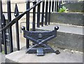 NT2473 : Cast iron shoe scraper, Rutland Square : Week 27