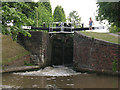 SJ7065 : Lock no 72 at Middlewich by Stephen Craven