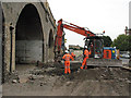 TQ3478 : Renovating the Greenwich viaduct by Stephen Craven