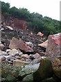 SS5085 : Rockfall, Oxwich Point by Alan Bowring