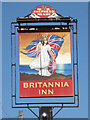 TR0916 : Britannia Inn sign by Oast House Archive