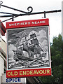 TR3042 : Old Endeavour sign by Oast House Archive