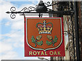 TR2943 : Royal Oak sign by Oast House Archive