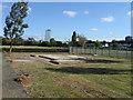 TQ1783 : Base of former Bowling Club building by Alex McGregor
