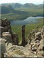 NC1010 : Rock stack on Stac Pollaidh by stuart anthony