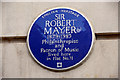 Photo of Robert Mayer blue plaque