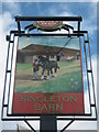 TQ9841 : Singleton Barn Pub Sign by David Anstiss