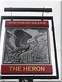 TR1767 : The Heron Pub Sign by David Anstiss