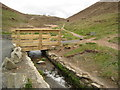SW6949 : Footbridge at Chapel Porth by Philip Halling