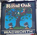 ST8770 : Sign for the Royal Oak, Corsham by Miss Steel