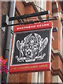 TQ3081 : Freemasons Pub Sign by David Anstiss