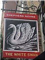 TQ3381 : The White Swan Pub Sign by David Anstiss