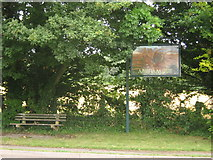 TR2254 : Adisham Village Sign by David Anstiss