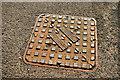 J2763 : Grahams manhole cover, Lisburn by Albert Bridge