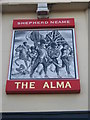 TQ7369 : The Alma, Pub Sign, Strood by David Anstiss