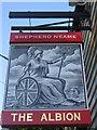 TR0161 : The Albion, Pub Sign, Faversham by David Anstiss