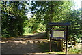 TQ5745 : Tonbridge to Penshurst Cycle route information, Haysden Country Park by Nigel Chadwick