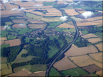 TL1527 : Great Offley from the air by Thomas Nugent