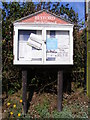 TM4177 : Blyford Village Notice Board by Adrian Cable