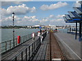 TQ8883 : Railway on Southend-on-Sea Pier by Oast House Archive