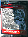 TR3967 : Wrotham Arms sign by Oast House Archive