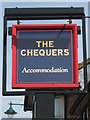 TQ6736 : The Chequers sign by Oast House Archive