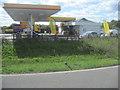 TL2769 : A14 Hemingford Abbots services by John Firth
