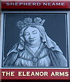 TQ3683 : The Eleanor Arms Pub Sign by Frankie Colclough
